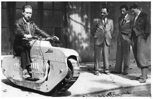 Caterpillar Track Motorcycle February 1938