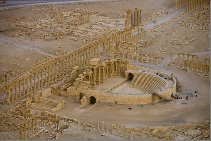 The Roman theatre in Palmyra, Syria