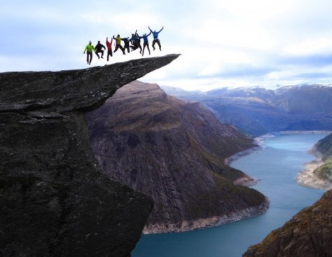 The group jump in Language Troll in Norway