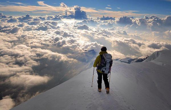 Heavenly view from the alps