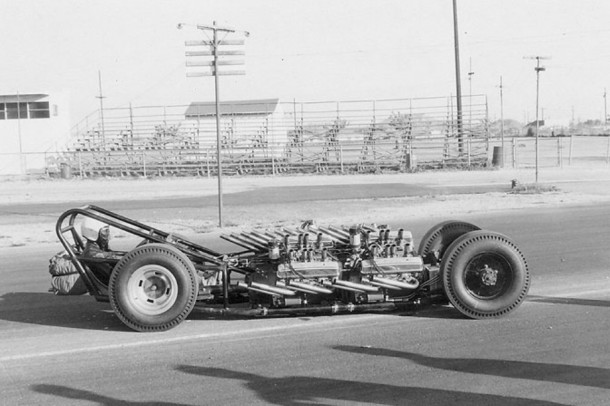 """""""TV Tommy"""" Ivo's 4 Engine Dragster"""
