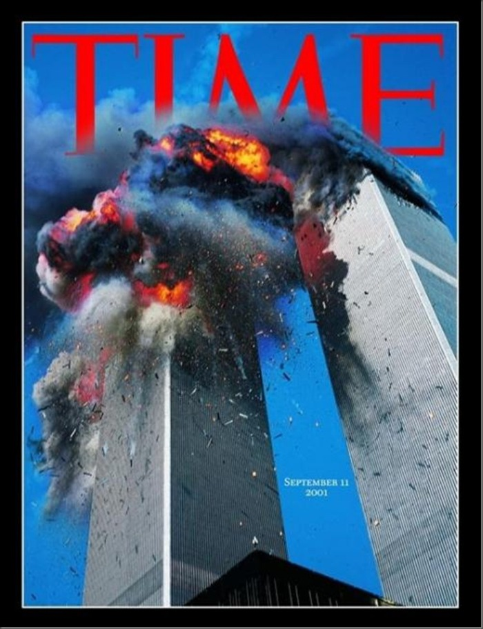 Time, September 14, 2001.These are the Twin Towers during the terrorist attacks