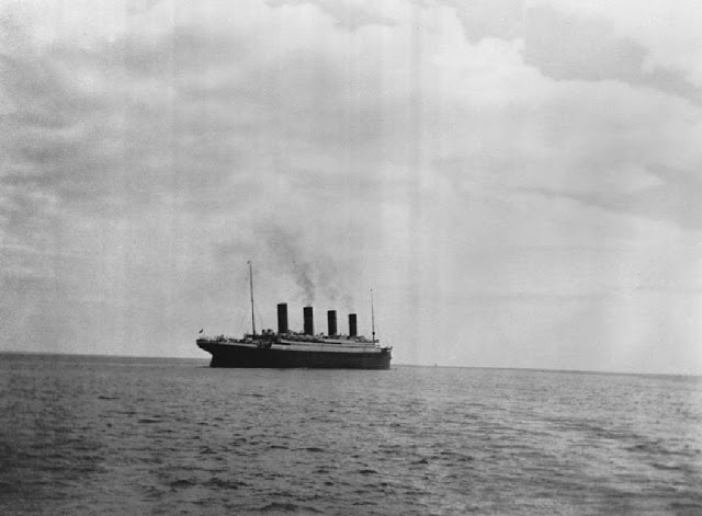 The last photo ever taken of the RMS Titanic, 1912