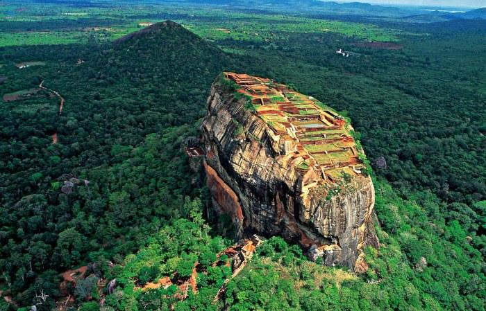 Lions Rock in Sri Lanka