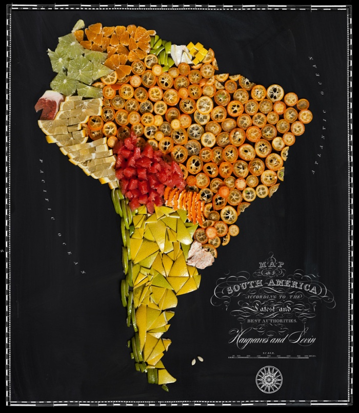 map OF the world's most famous foods 2