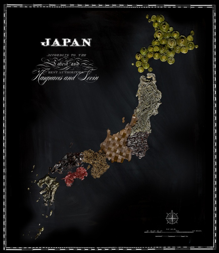map OF the world's most famous foods 6
