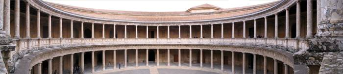 Panoramic View of a Courtyard