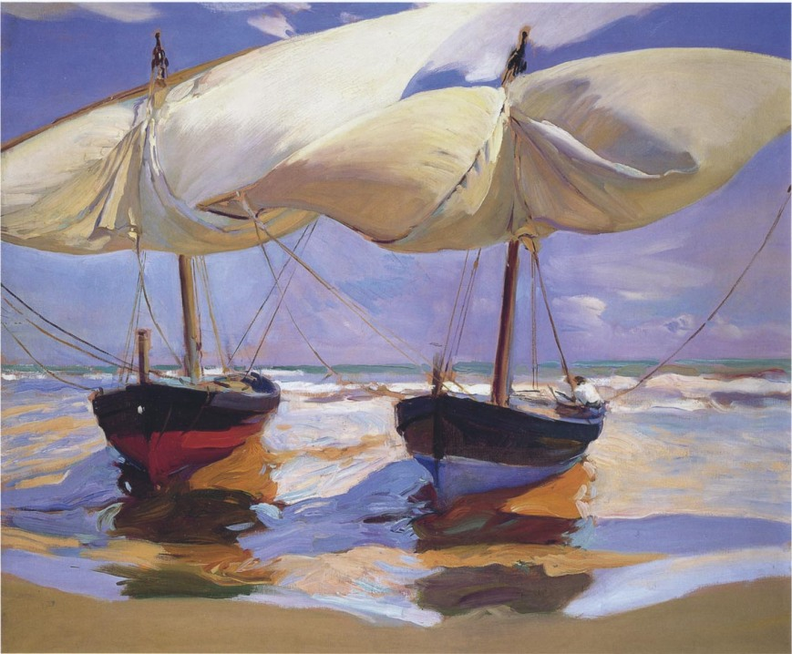 Beached Boats by Joaquín Sorolla