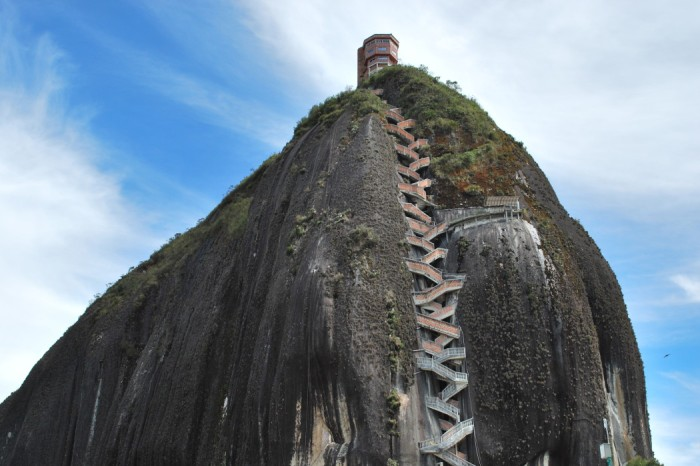THE SACRED ROCK OF GUATAPE IN COLOMBIA