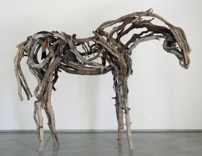 Deborah Butterfield bronze horse sculpture