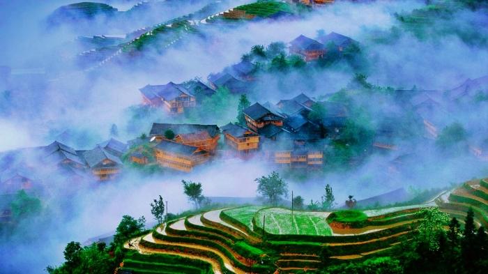 Longsheng rice terraces, Guangxi, China
