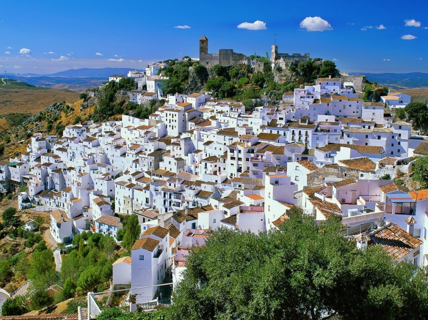 A typical Andalusian white town Casares.Population 4,051  Location Costa del sol, Málaga province