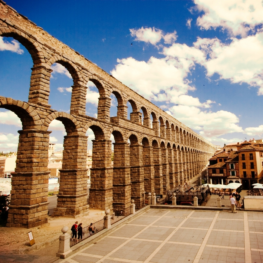 aqueduct bridge, Segovia, Spain