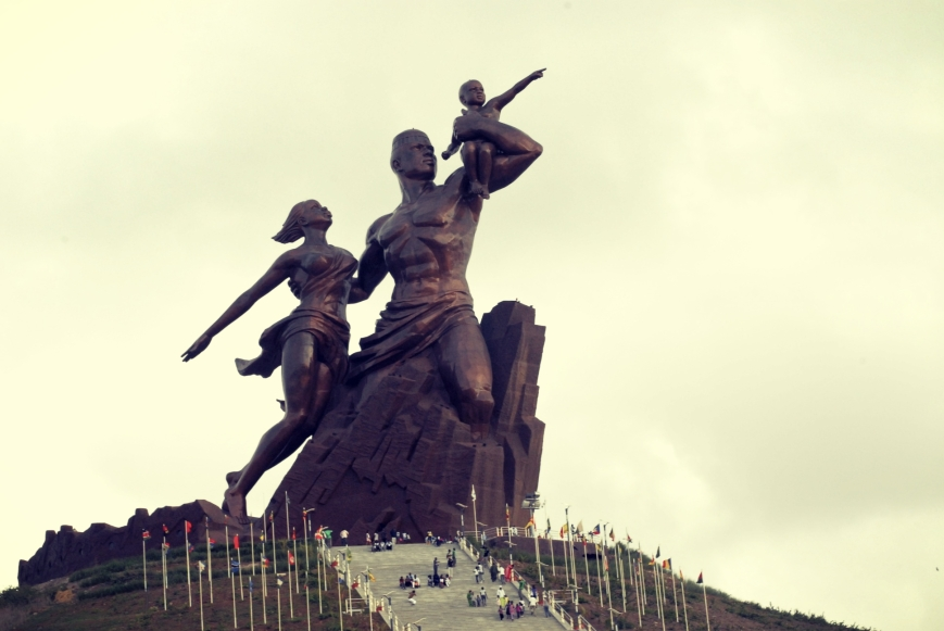 The tallest statue in Africa the African Renaissance Monument in Senegal