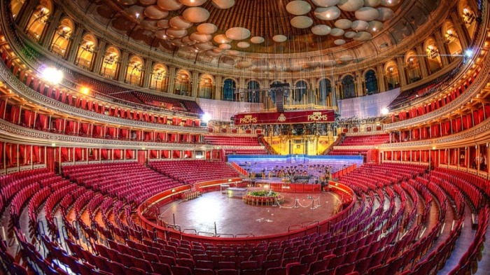An empty Royal Albert Hall