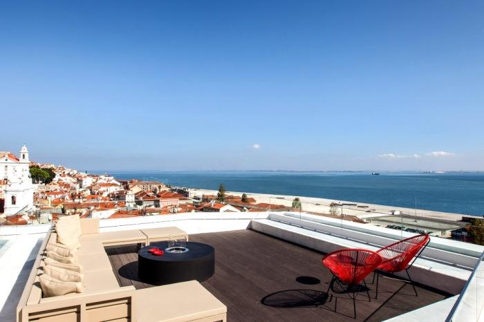 memmo alfama hotel roof balcony, lisbon