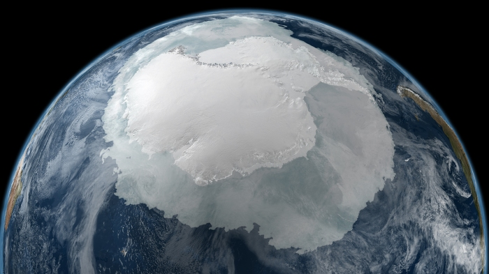 Antarctica as seen from space