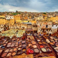 Panoramic View of the Leather Tanneries