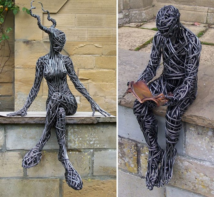 Stunning Wire Sculptures Capture The Movement Of The Human Body 5