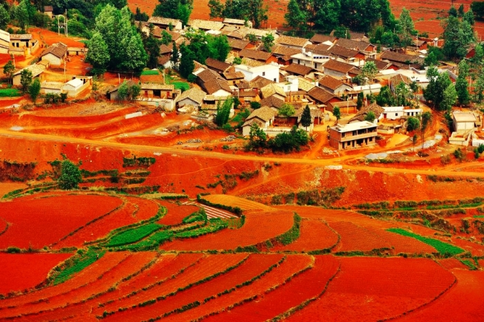 The incomparable Red Lands in Dongchuan, China