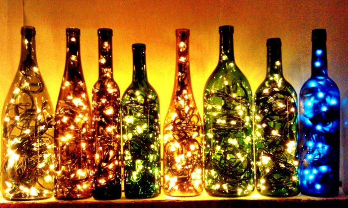 ways to reuse glass bottles