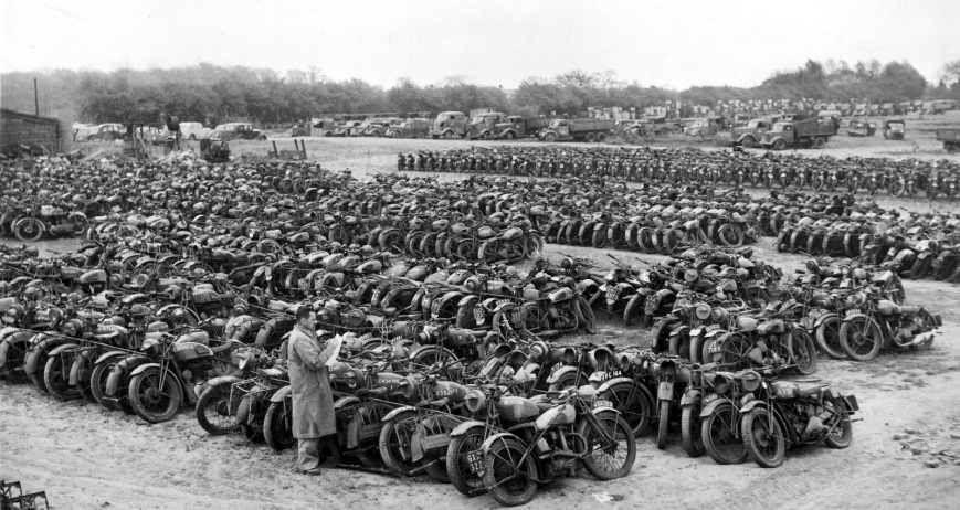 Military motorcycles for sale in 1946