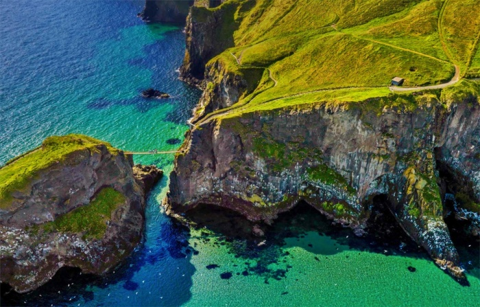 Rope Bridge At Northern Ireland