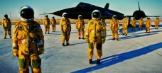 SR-71 & Pilots in Full Pressure Suits