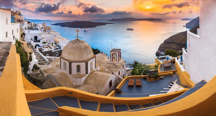 Surise at Thira, Santorini