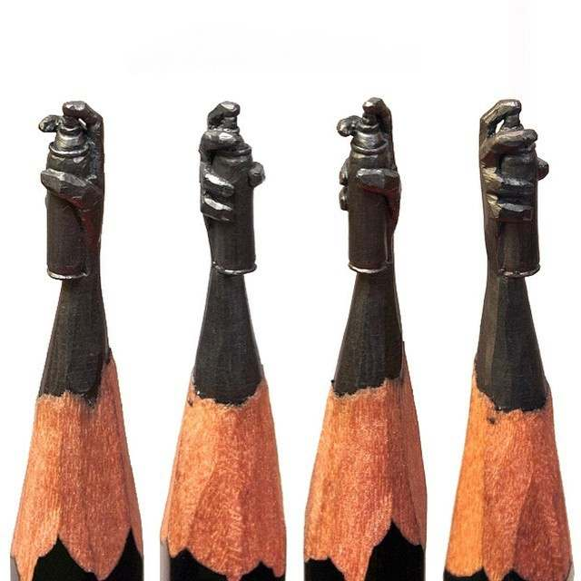 Tiny-sculptures-on-the-top-of-Graphite-pencils-3