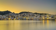 Town of Ermoupolis and port, Syros island