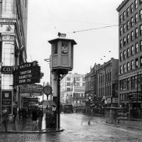 Traffic Tower on Fourth and Pike in Seattle, 1925