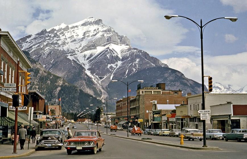 Bustling Banff, Alberta, Canada, 1964